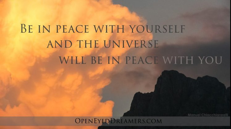 Be in peace with yourself